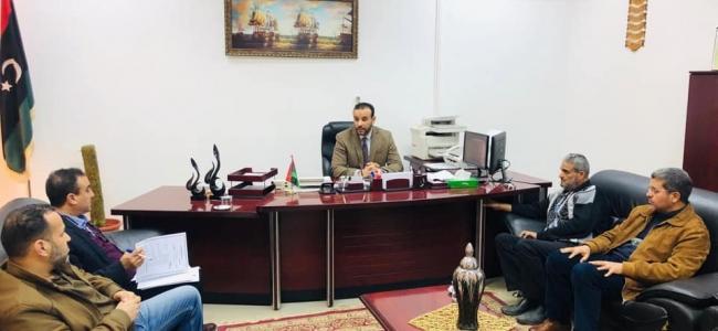 د . محمد هيثم وكيل الوزارة يزور مستشفى أبوسليم للحوادث