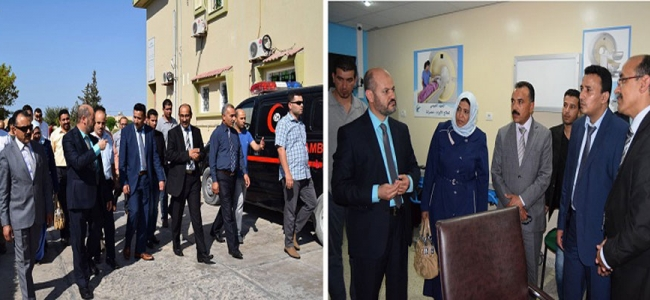 زيارة السيد وزير الصحة والسيدة وزيرة الشؤون الاجتماعية بحكومة الإنقاذ لمدينة مصراتة